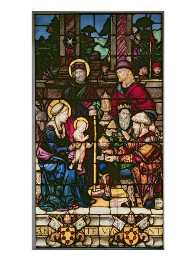 Adoration of the Magi, a Stained Glass Window Originally the Gift of Pope Leo X--Giclee Print