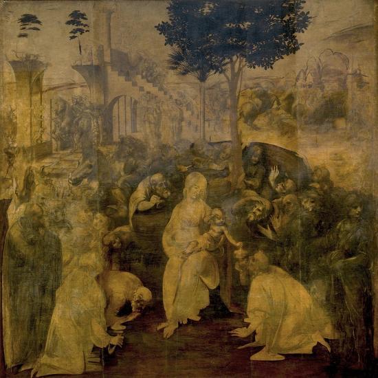 Adoration of the Magi by Leonardo Da Vinci-Leonardo Da Vinci-Giclee Print
