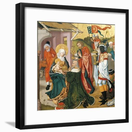 Adoration of the Magi, C.1475-Martin Schongauer-Framed Giclee Print
