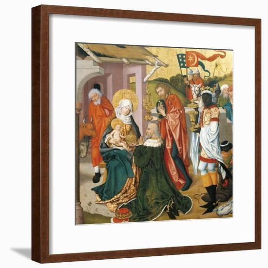 Adoration of the Magi, C.1475-Martin Schongauer-Framed Giclee Print