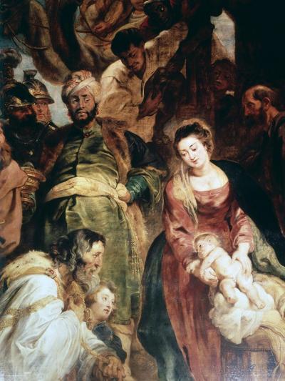 Adoration of the Magi (Detail), 1624-Peter Paul Rubens-Giclee Print