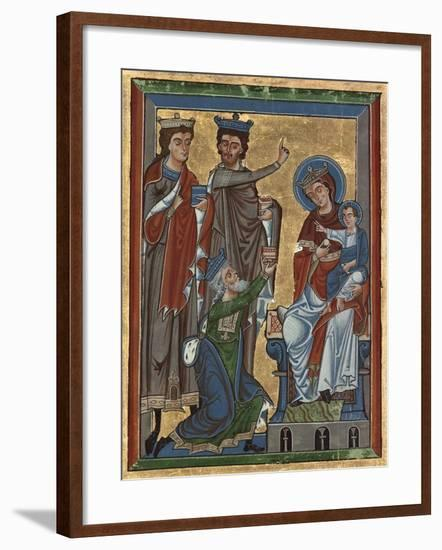 Adoration of the Magi from Psalter Ms 4, c.1240-German School-Framed Giclee Print