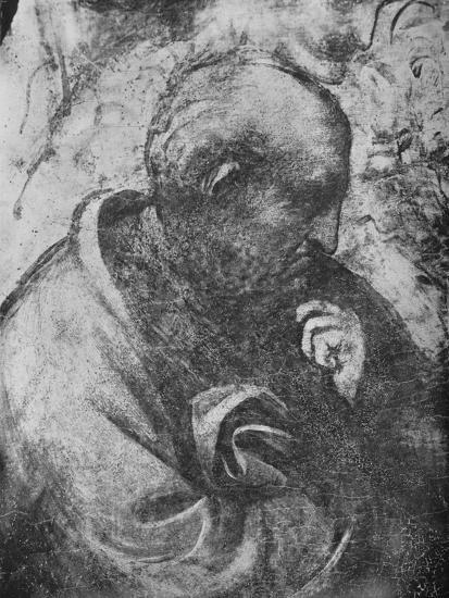 'Adoration of the Magi - Head of 'philosopher' on the left', c1481 (1945)-Leonardo da Vinci-Giclee Print
