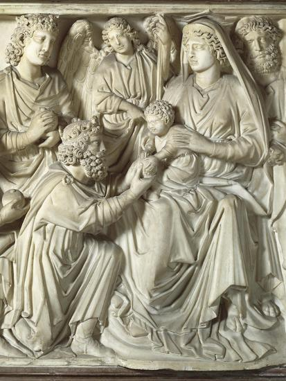 Adoration of the Magi, Panel from the Pulpit of the Baptistery of St John, 1255-1260-Nicola Pisano-Giclee Print