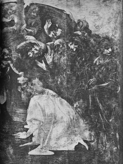 'Adoration of the Magi - Right-hand lower portion', c1481 (1945)-Leonardo da Vinci-Giclee Print