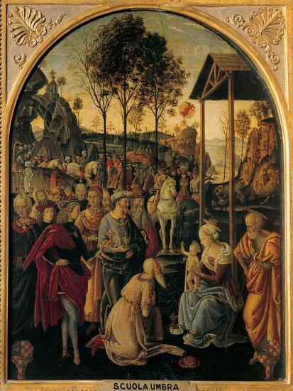 Adoration of the Magi, Unknown Umbrian Artist, c. 1490. Palazzo Pitti, Florence, Italy- Umbrian Artist-Art Print