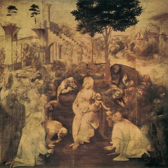 Adoration of the Magi-Leonardo da Vinci-Premium Giclee Print