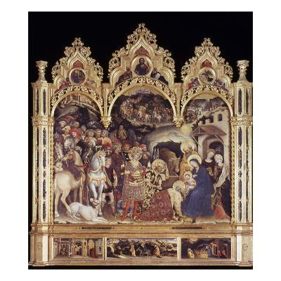 Adoration Of The Magi-Gentile Da Fabriano-Giclee Print