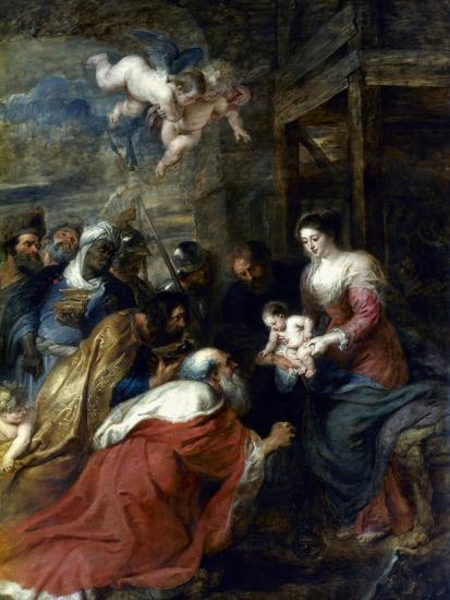 Adoration Of The Magi-Peter Paul Rubens-Giclee Print