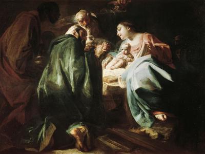 Adoration of the Magi-Federico Faruffini-Giclee Print