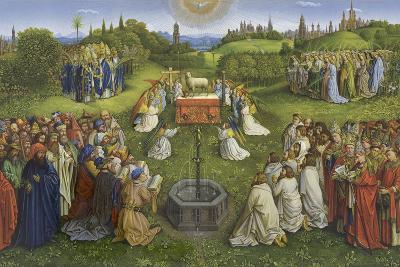 Adoration of the Mystic Lamb-Hubert & Jan Van Eyck-Giclee Print