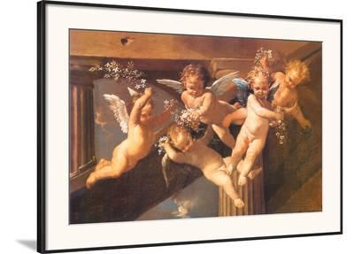 Adoration of the Sheperds-Nicolas Poussin-Framed Art Print