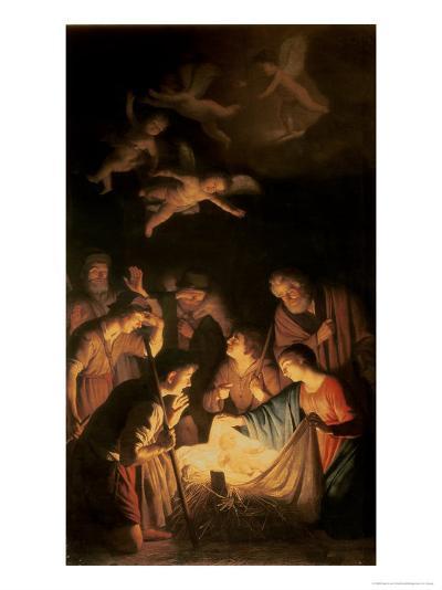 Adoration of the Shepherds, 1617-Gerrit van Honthorst-Giclee Print