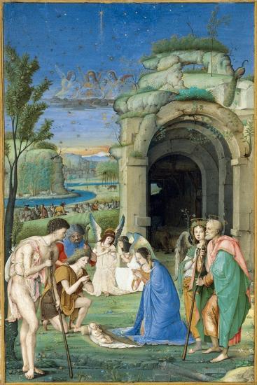 Adoration of the Shepherds, c.1500-Francesco Marmitta-Giclee Print