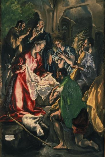 Adoration of the Shepherds, C. 1590-El Greco-Giclee Print