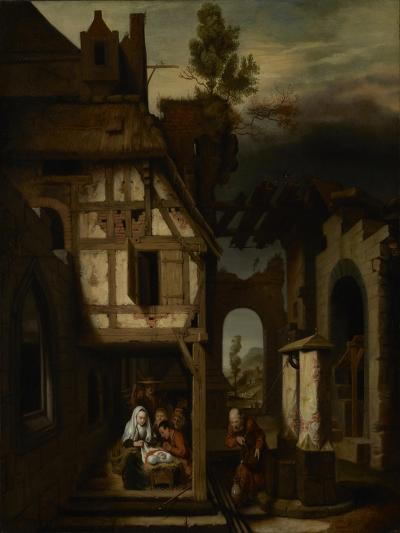 Adoration of the Shepherds, c.1660-Nicolaes Maes-Giclee Print