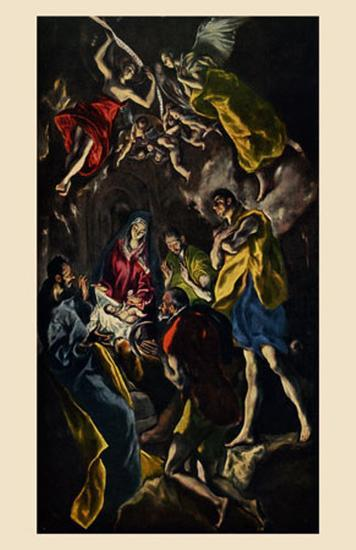 Adoration of the Shepherds-El Greco-Art Print