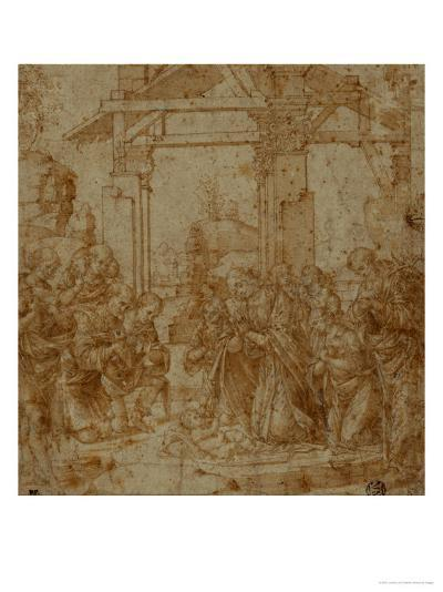 Adoration of the Shepherds-Lorenzo di Credi-Giclee Print