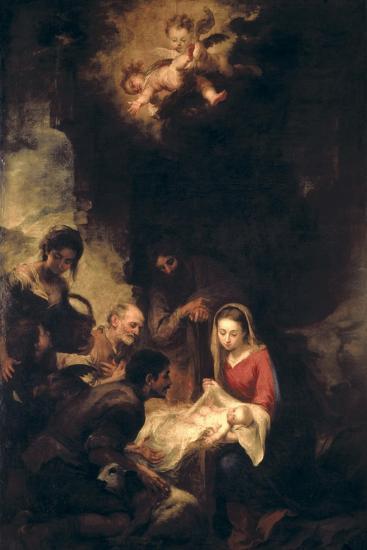 Adoration of the Shepherds-Bartolome Esteban Murillo-Giclee Print