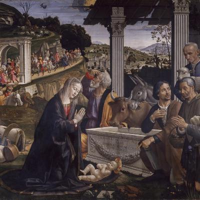 Adoration of the Shepherds-Domenico Ghirlandaio-Art Print