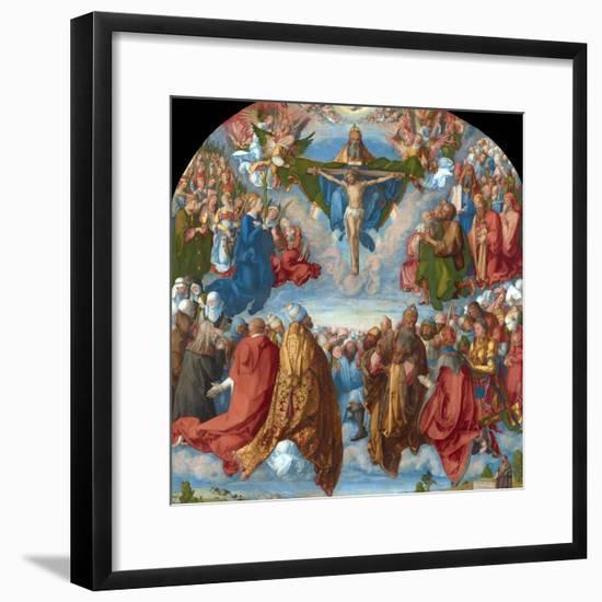 Adoration of the Trinity (Landauer Altarpiece)-Albrecht Dürer-Framed Giclee Print
