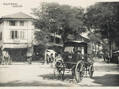 Adran Street - Saigon with Horse Cab--Photographic Print