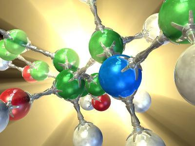 Adrenaline Hormone Molecule-David Mack-Photographic Print