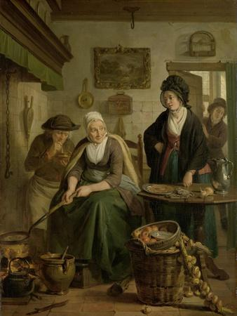 Woman Baking Pancakes