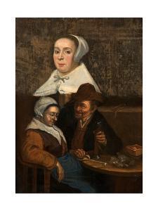 A Dutch Tavern Scene, Early 17th Century by Adriaen Brouwer