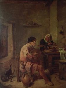 An Interior with Figures by Adriaen Brouwer