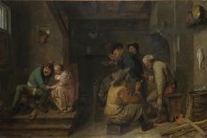 An Interior with Figures-Adriaen Brouwer-Giclee Print