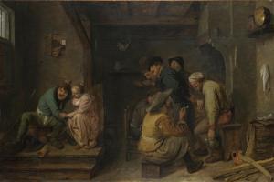 Tavern Scene, C. 1635 by Adriaen Brouwer