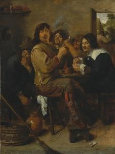 The Smokers, c.1636 by Adriaen Brouwer