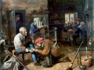 Village Barber-Surgeon by Adriaen Brouwer