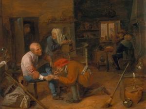 Village Barber by Adriaen Brouwer