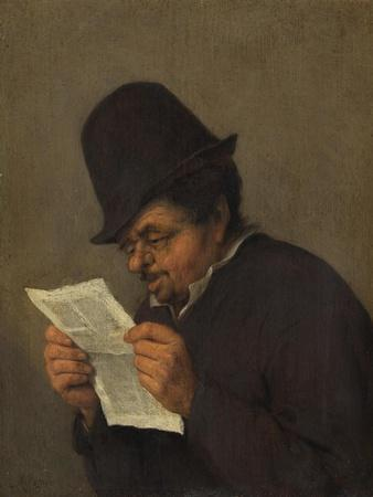 Old Peasant Reading a Paper, c.1647