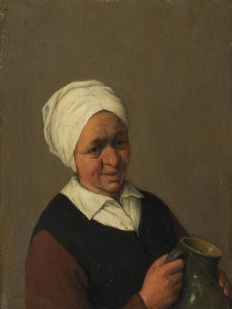 Old Peasant Woman Holding a Jug, c.1643