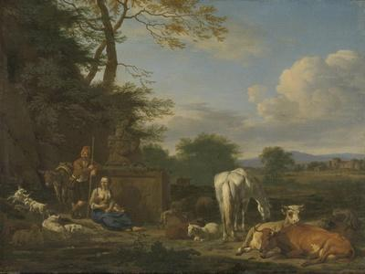 Arcadian Landscape with Resting Shepherds and Animals, 1664