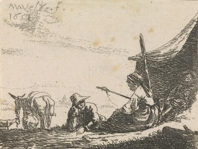 Figures by a tent, 1653