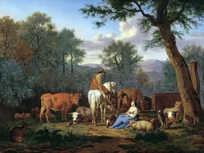 Landscape with Cattle and Figures, 1664 by Adriaen van de Velde