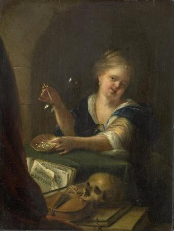 Bubble-Blowing Girl with a Vanitas Still Life