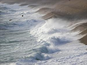 Storm Waves At Chesil Beach by Adrian Bicker
