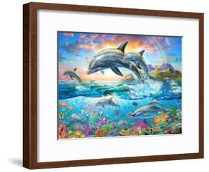 Dolphin Family by Adrian Chesterman