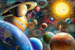 Planets in Space (Variant 1) by Adrian Chesterman
