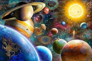 Planets in Space by Adrian Chesterman