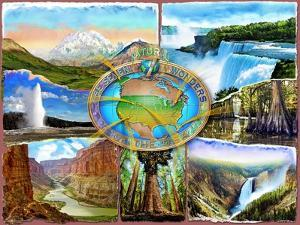 Seven Natural Wonders of the USA (Variant 1) by Adrian Chesterman