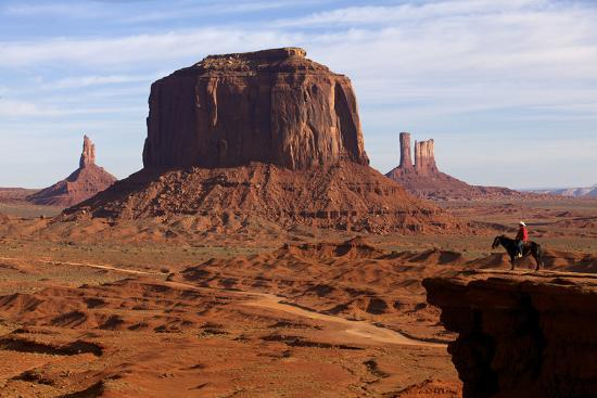 Adrian, Last Cowboy of Monument Valley, Utah, United States of America, North America-Olivier Goujon-Photographic Print