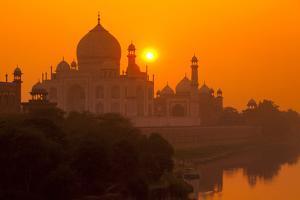Sunset at Taj Mahal by Adrian Pope