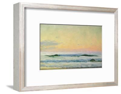 Sea Study - Evening (Oil on Panel)