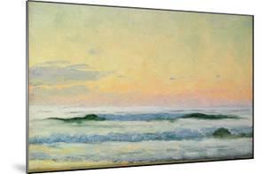 Sea Study - Evening (Oil on Panel) by Adrian Scott Stokes